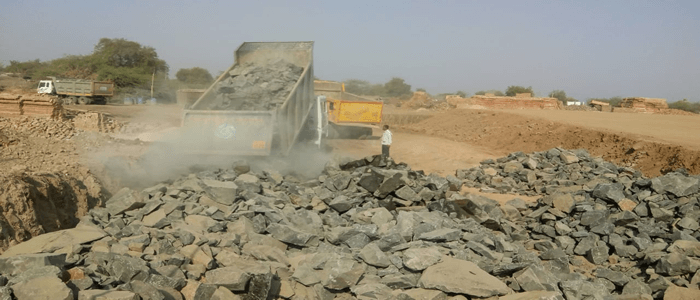 Construction of Roadbed a supply of ballast Bridges residential and service buildings for Dallirajhara Keoti section-1