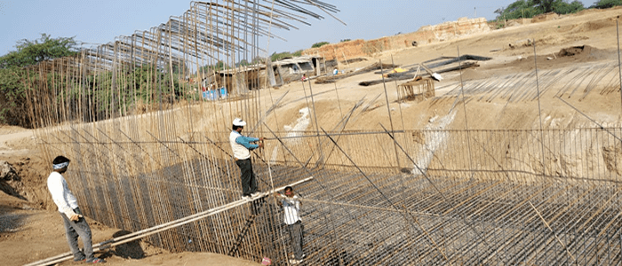 Construction of Roadbed a supply of ballast Bridges residential and service buildings for Dallirajhara Keoti section-3